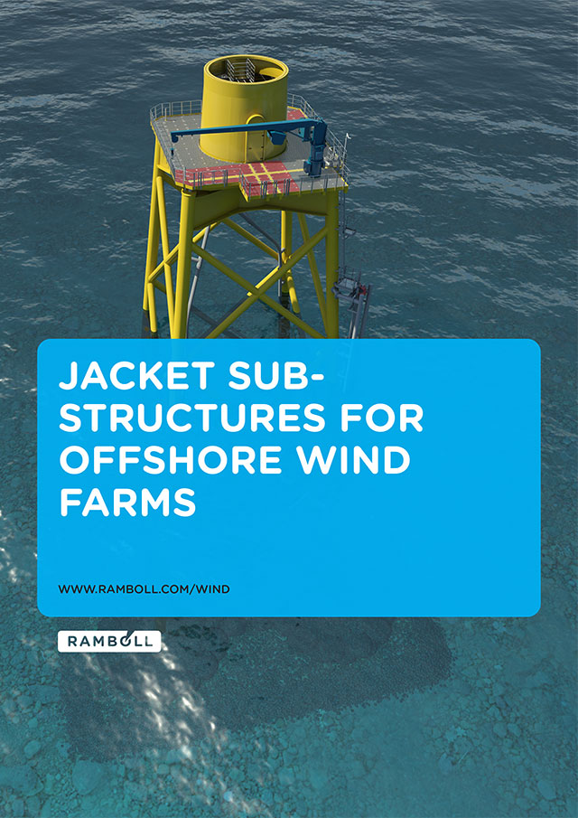 Jacket substructures for offshore wind farms