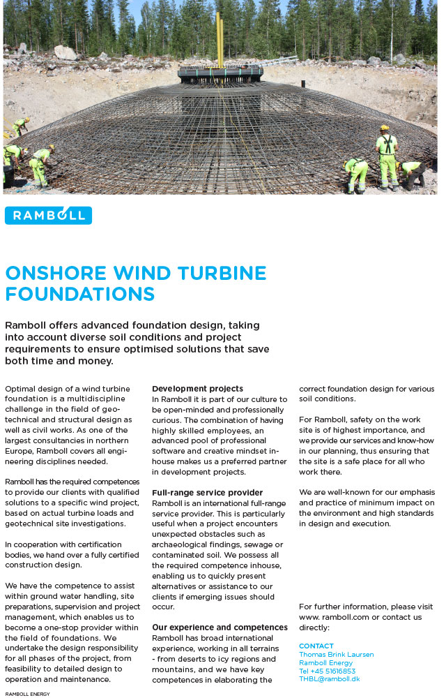 Ramboll offers advanced foundation design, taking into account diverse soil conditions and project requirements to ensure optimised solutions.