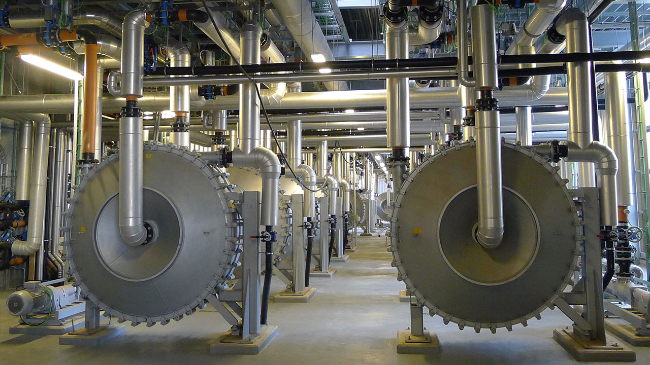 Pipes at Maabjerg BioEnergy Plant