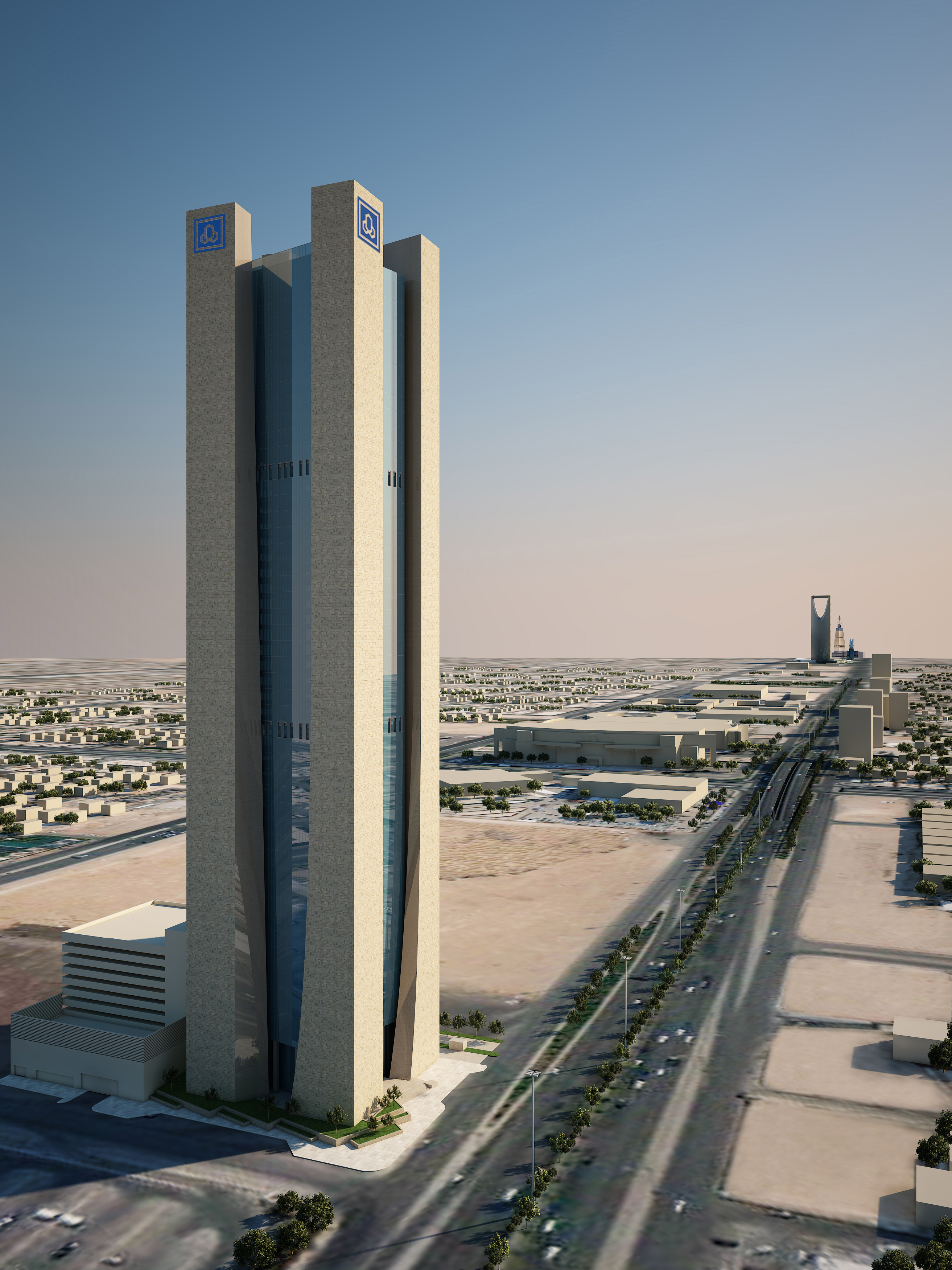 View of Riyadh, with the Al Rajhi Bank