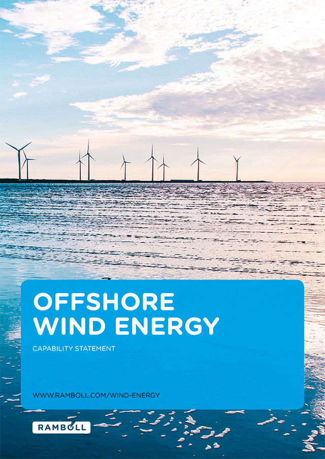 Front page of offshore wind energy brochure