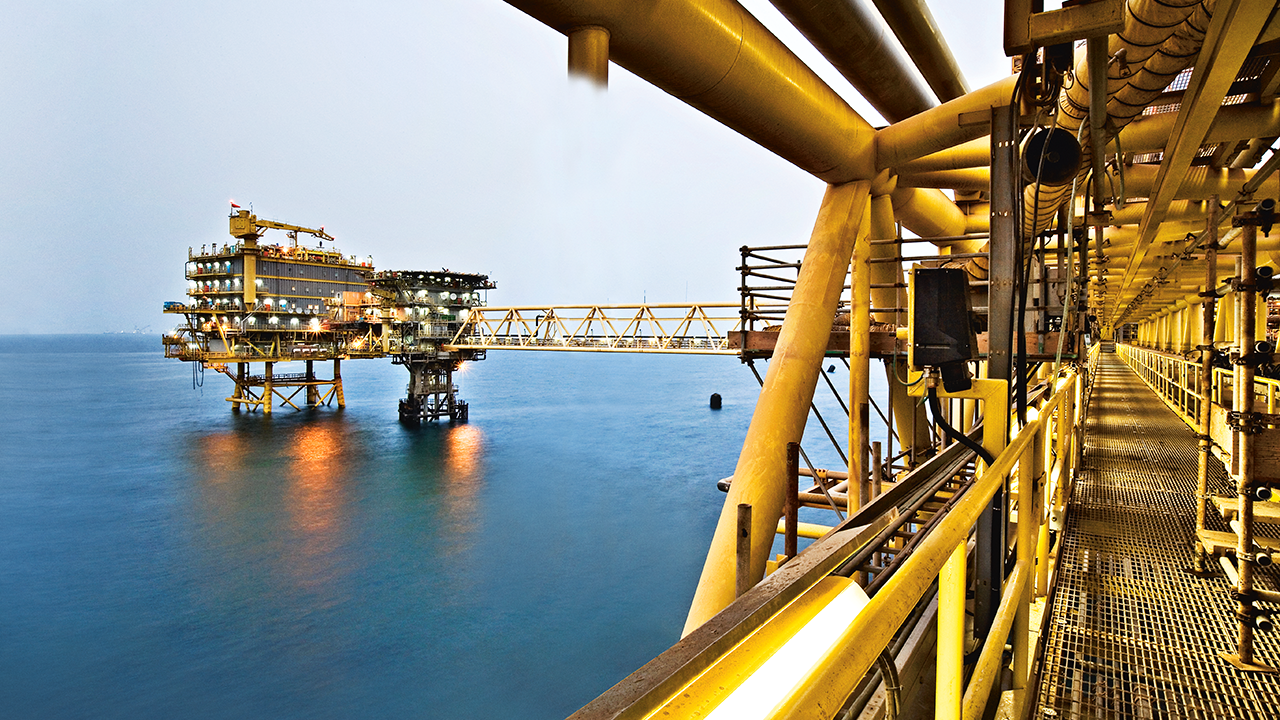 Al Shaheen platform. Photo courtesy of Maersk Oil