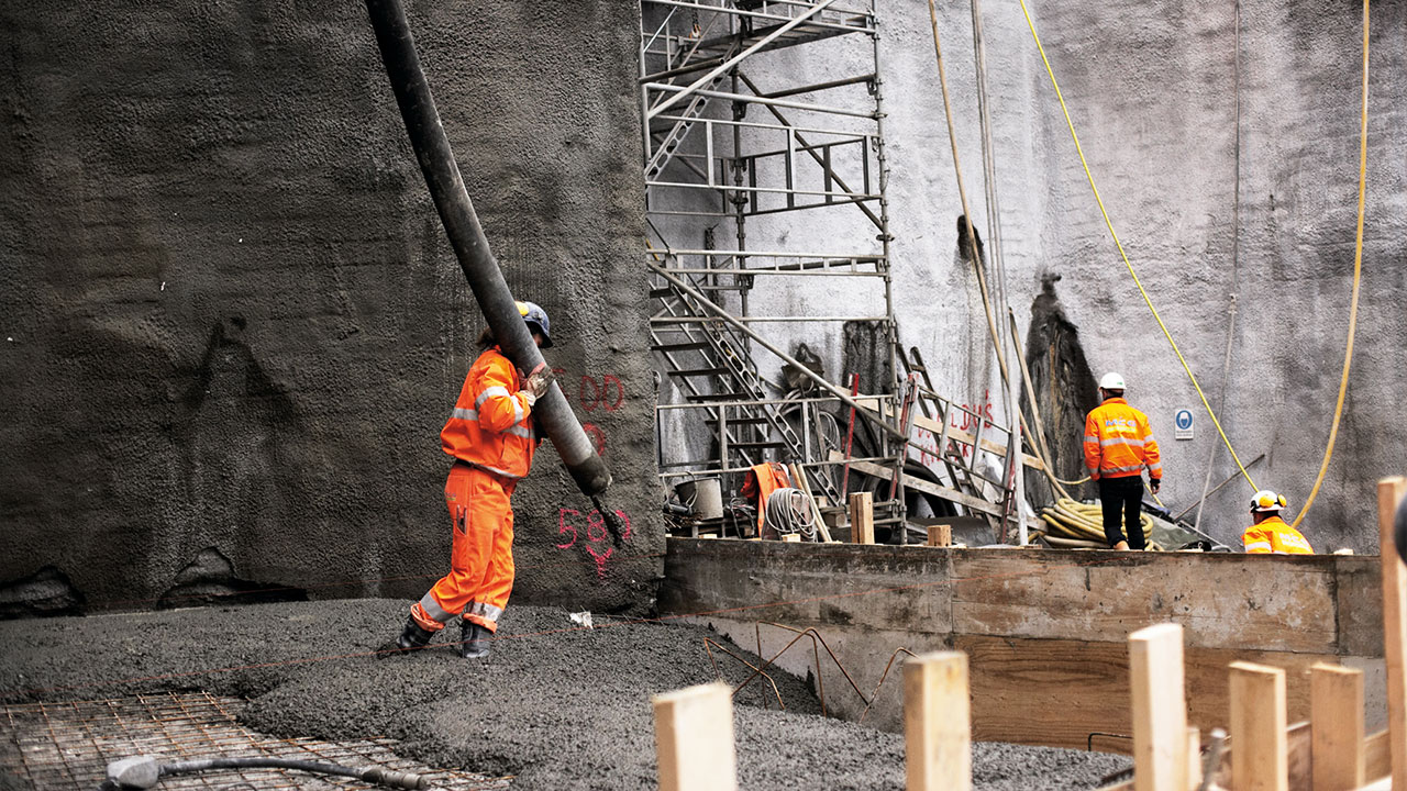 Workers down in the Malmö City tunnel - Ramboll assisted MCG with Ground Engineering in this project