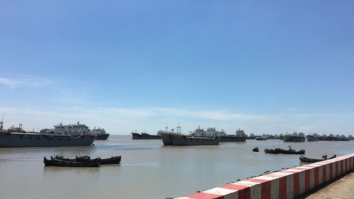 The new Sitakunda Port will be located in the Sandwip Channel downstream from the Feni-Mirasarai river in Bangladesh