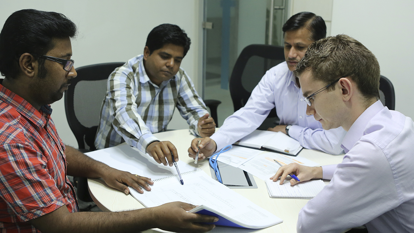 Consultants from Ramboll GEC in discussion
