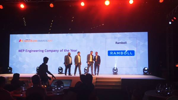 Ramboll won MEP Engineering Company of the Year at the Middle East Consultant Awards 2017,