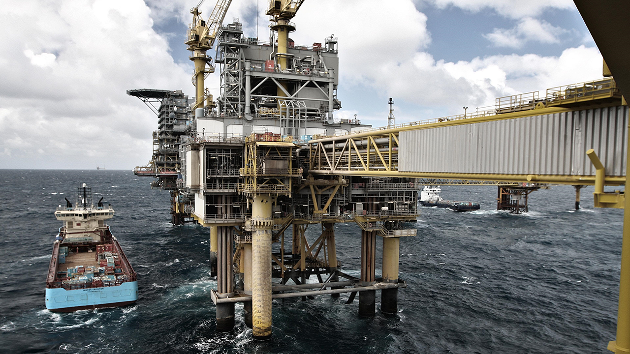 The Halfdan complex in the North Sea. Photo: Maersk Oil