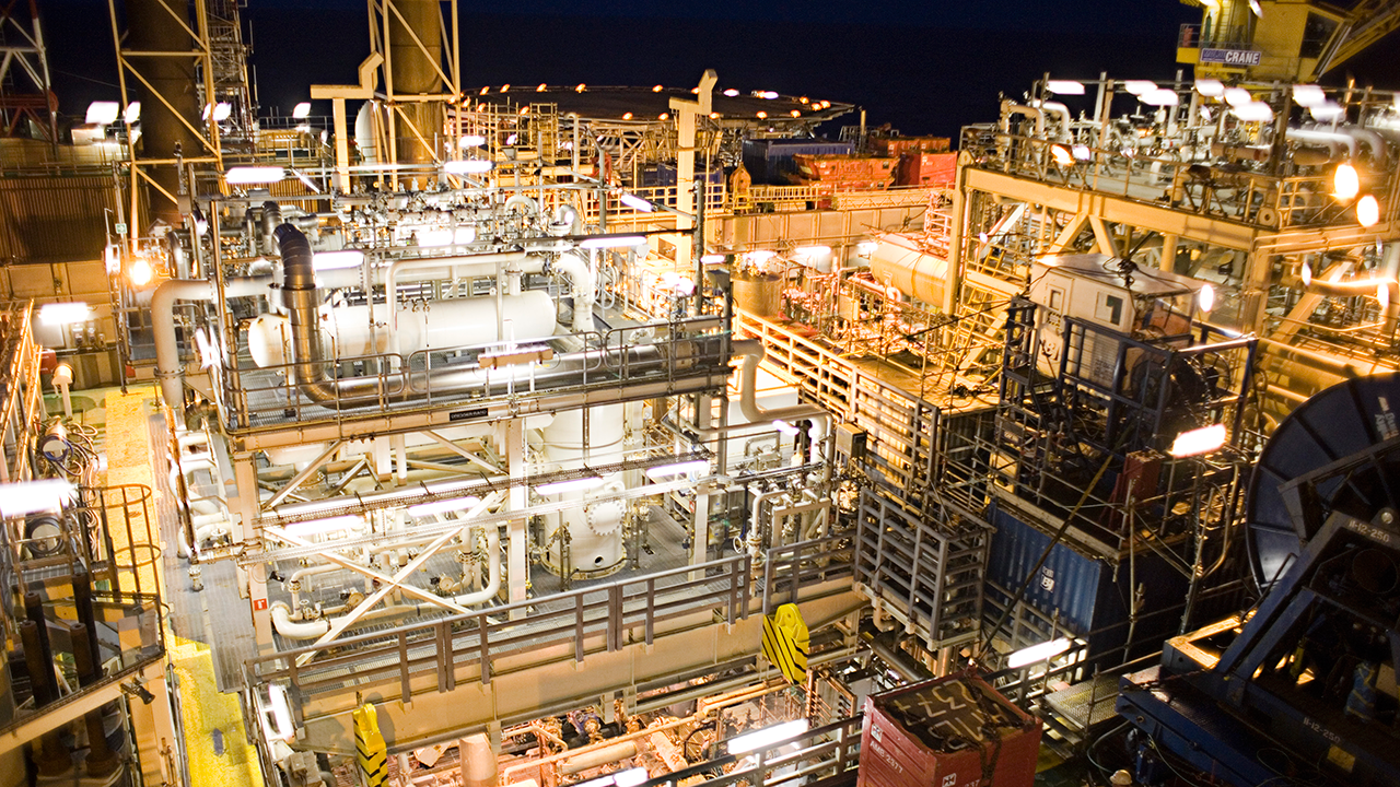 Siri platform by night. Photo: DONG Energy