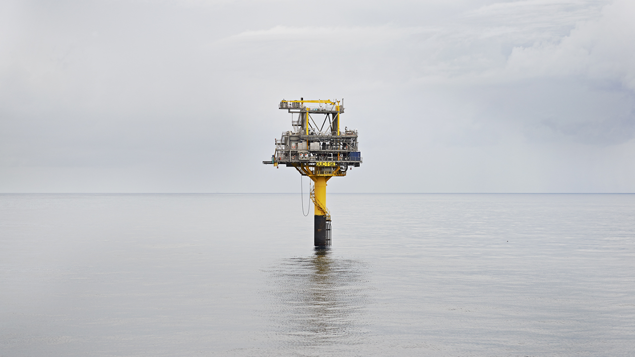 Unmanned wellhead platform, Tyra South East A