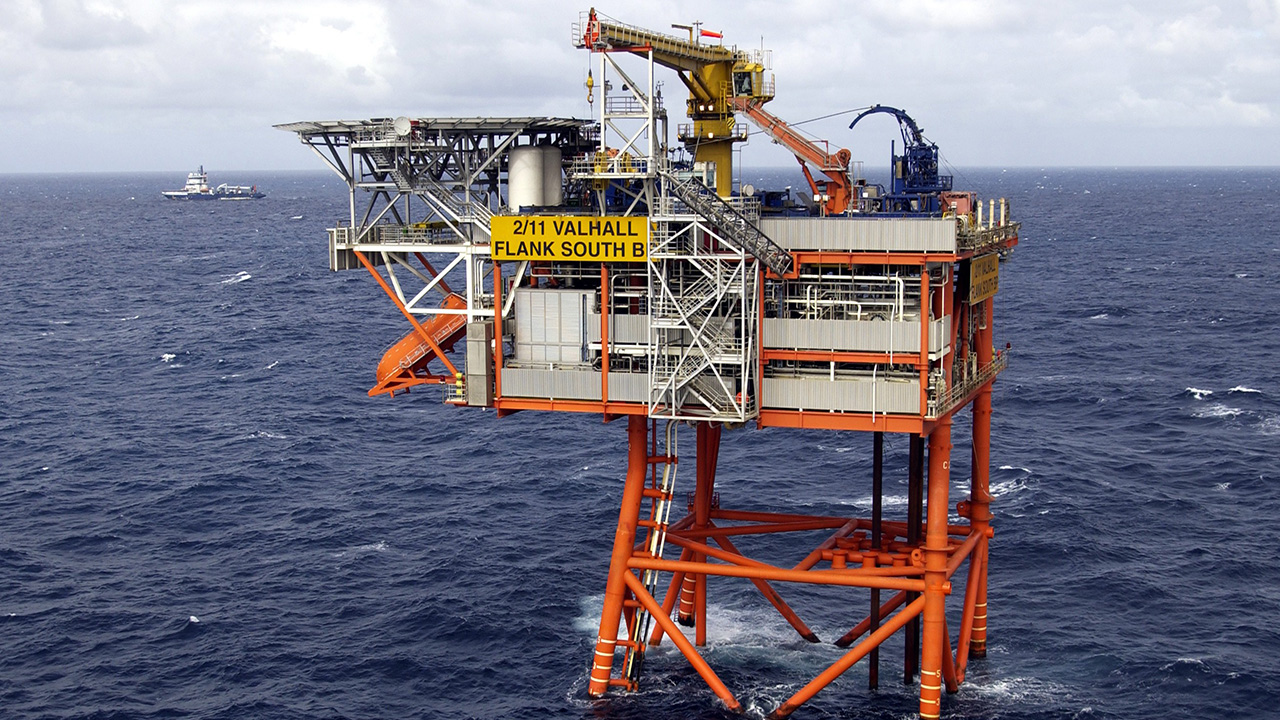 Valhall South Flank unmanned wellhead platform