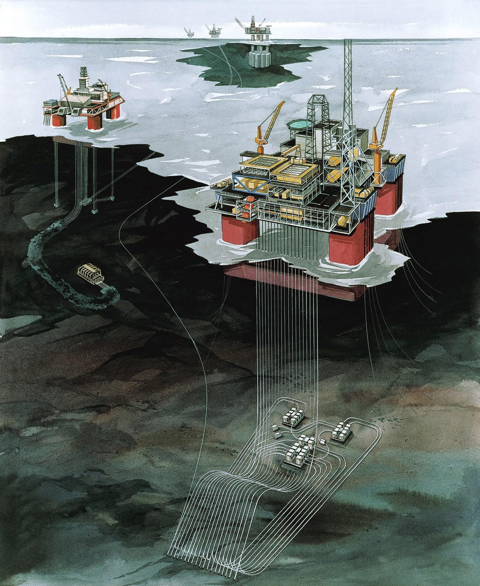 Snorre oil and gas field (Image: Statoil)