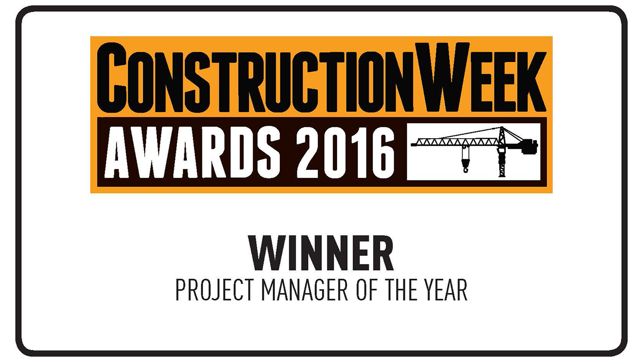 Ramboll's Brian Sweeney - Project Manager of the Year Winner at the Construction Week Awards 2016